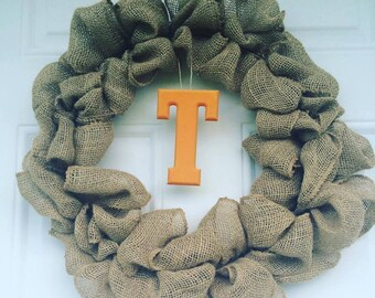 UT Vols burlap wreath