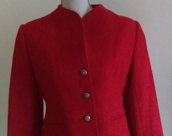 Vintage Red Evan Piccone Wool Jacket.