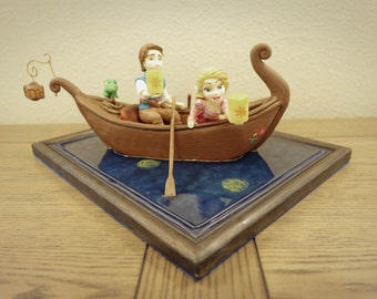 Rapunzel's Boat Scene with Flynn Rider and Pascal