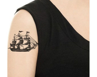 Temporary Tattoo -  Vintage Ship