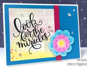 Handmade Card Watercolor Look For The Miracles