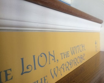 Book Stair Risers / Book Stairs / Narnia / Alternative to Stair Riser Decals & Stickers / The Lion, The Witch, and The Wardrobe / Item 094