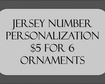 Jersey Number Personalization