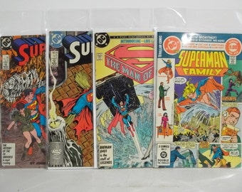 Lot of 4 Vintage Superman Comic Books