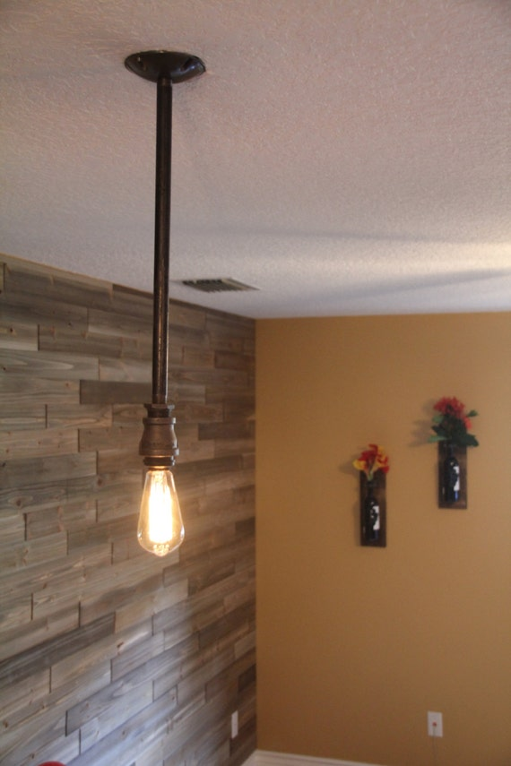 Single Light Industrial Hanging Ceiling Pendant Edison Bulb