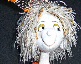 "Cloth Art Doll ""Olive"" OOAK"