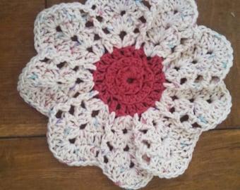Blossoms Dishcloth/Potholder