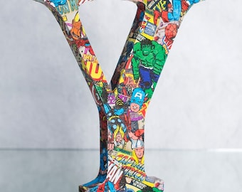 Free-standing Superhero Solid Wood Letters - All Letters Available