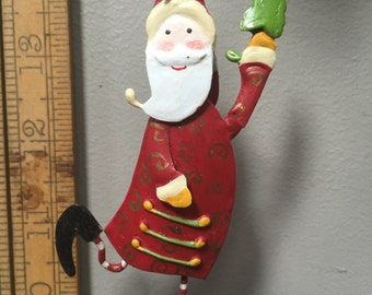 Santa Whimsical colourful  Christmas ornament Decor  Christmas tree decorations ornaments Out of production.