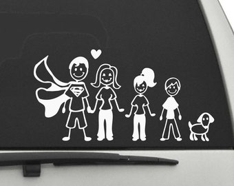 Happy Family Car Decal (1467-CAR)