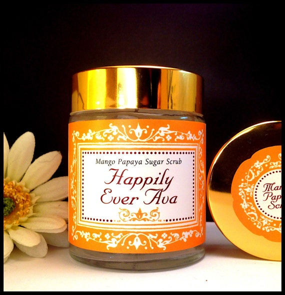Mango Papaya Sweet Sugar Scrub by Happily Ever Ava, Bath and Beauty ...