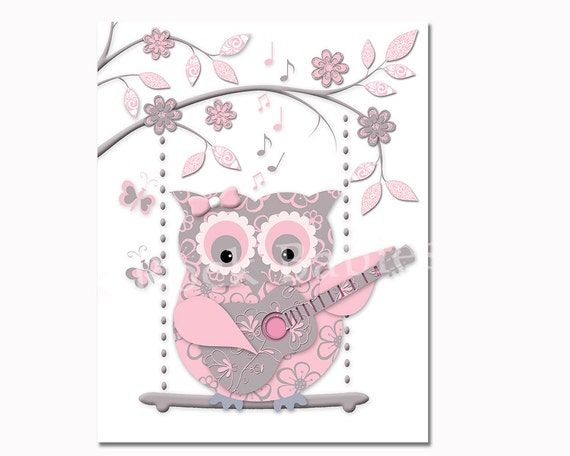 owl playing the guitar - photo #31