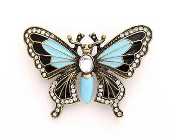 Butterfly Brooch, Broach, Teal, Blue, Butterfly, Brooch, Butterfly Broach, Butterflies, Jewelry, DIY Project Jewelry Craft Embellishment