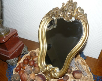 Vintage, French, small wall mirror