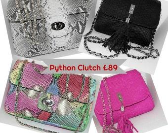 Genuine Python Snakeskin Clutch/Crossbody Bags SALE