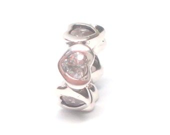 New Authentic Pandora Space In My Heart spacer Charm 791252