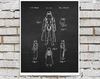 Star Wars print #7 Rebel Storm Trooper Patent Poster, Star Wars Decor, Star Wars Boys Room Decor,  Star Wars Gift for Kids, Sci-Fi decor