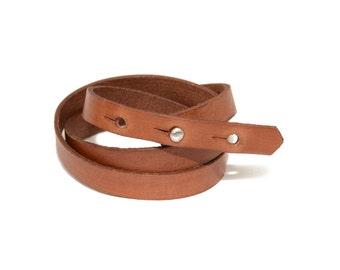 Leather Wrap Bracelet- Triple Wrap