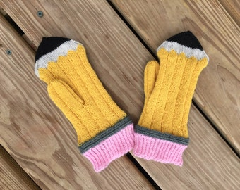 Pencil Mittens **pattern only**