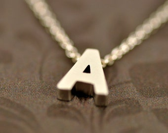 Sale! Silver Initial Letter Necklace-Sterling Silver Chain-Gold Initial Letter Necklace-Alphabet Necklace-Monogram-Personalized Necklace