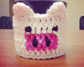 Crochet Pig Coffee Cozy