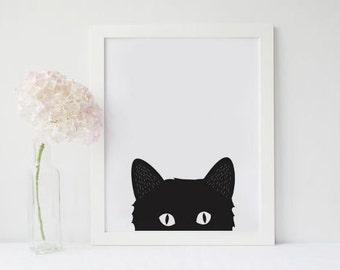 Curious Kitten Wall Art / 5X7 / 8X10