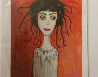 Greeting card. Blank inside. Image is a print of my painting