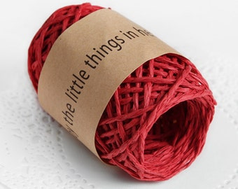 11 yd x Paper string / Red / twist string / paper cord ribbon / paper twine / gift wrap