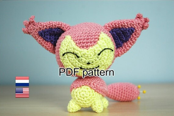 Crochet pattern Skitty (Pokemon)