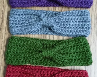 Child or adult ear warmer headband/solid any color