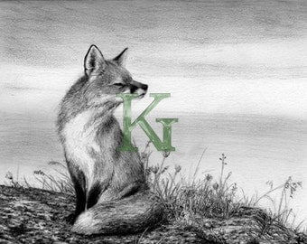 """KG Cards """"Red Fox"""" Greeting Card"""