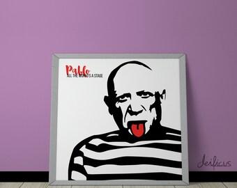 Pablo Picasso Digital Art Print - Inspirational Wall Art, Printable Art, Funny Poster Art, Canvas Art, Instant Digital Download