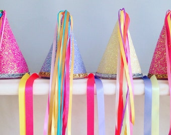 Sparkly Party Hats (Set of 4)