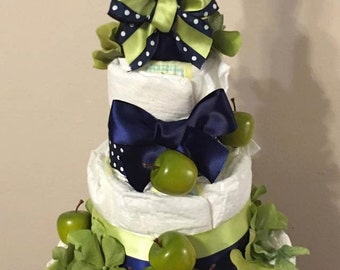 Apple of My Eye Diaper Cake