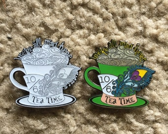 Alice in Wonderland Mad Hatter Glow Tea Time Glow Hat Pin