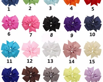 5 inch pinwheel hairbow bundle!! You pick how many bows in each bundle!! Hair bow lot!