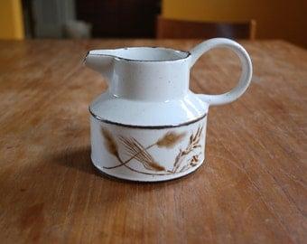 Vintage WR Midwinter Stonehenge Wild Oats Ceramic Creamer Beige Brown MCM England
