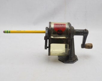 Antique  Apsco Giant Pencil Sharpener, 1930s-1940s, Industrial Office Decor