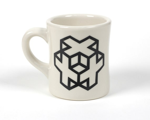 Cross Cube Ceramic Coffee Mug Cool Designs Interesting