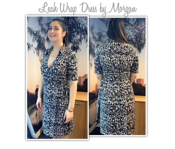 Lea Knit Wrap Dress Pattern Sizes 8 10 & 12 PDF sewing