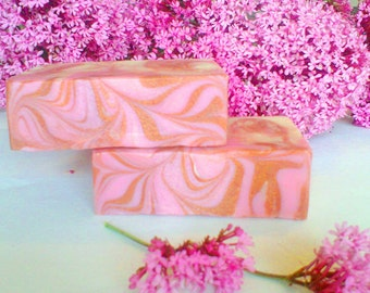 Pretty in Pink Handmade Soap, Natural Soap, Cold Process Soap, Vegan Soap, Scented Soap, All Natural Soap, Gentle Soap Bar