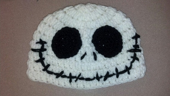 Crochet Pattern For Jack Skellington Hat : Jack Skellington Crochet Hat Pattern