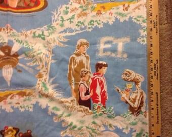 Vintage ET window panel craft fabric