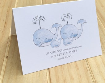 twins baby shower thank you cards baby twins thank you cards gender neutral baby
