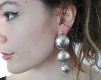 Wrought silver earings