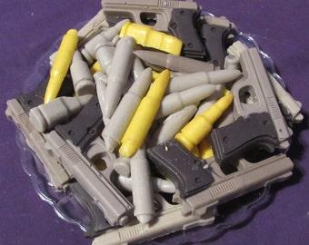 Guns & Bullets chocolates candy tray