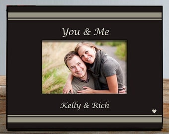 You & Me Personalized Frame, Custom Couples Picture Frame