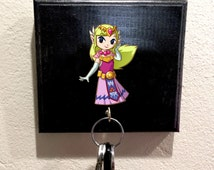 Zelda, Zelda Decal, Zelda Sticker, Handmade wooden key holder, Single Key Hook jewelry holder, Key Hook, Gift, For Her, For Him