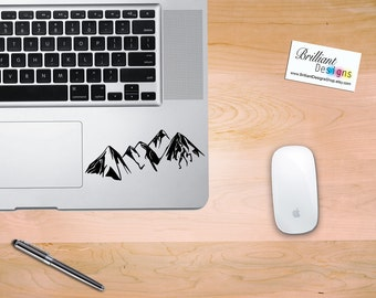 Mountain Range, Mountain Decal, Mountain Sticker, Vinyl Decal, Laptop Decal, Car Decal, Macbook Decal, Laptop Sticker, Macbook Sticker