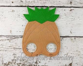 Pineapple Children's Felt Mask  - Costume - Theater - Dress Up - Halloween - Face Mask - Pretend Play - Party Favor